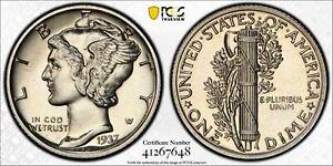 1937 PROOF MERCURY DIME 10C SILVER PCGS & CAC CERTIFIED PR 66 PROOF (648)