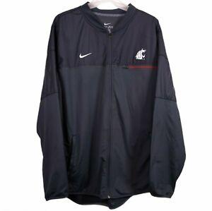 Washington State Cougars Nike Jacket Mens Size XL Black Full Zip Performance