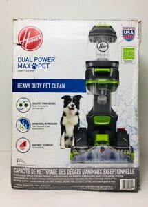"""Hoover Dual Power Max Pet Carpet Cleaner w/ Antimicrobial Brushes """"D2"""""""