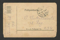 WWI-HUNGARY-GERMANY-AUSTRIA- FELDPOST POSTCARD-1917.