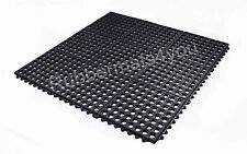 Pack of 4 Rubber Interlocking Mats With Holes Grass Drainage Outside Garden Shed