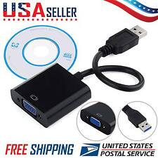 USB 3.0/2.0 to VGA Multi-display Converter Adapter External Video Graphic Card