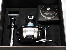 Luxury 5 In 1 Shaving Set/Kit Gift Set Badger Hair Brush,Razor,Bowl,Stand n Soap