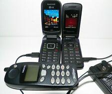 Lot of 3 Flip Phones Samsung SPH M270 LG 440G Tracfone Vintage Nokia 5190