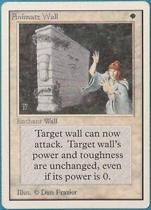 Animate Wall Unlimited HEAVILY PLD White Rare MAGIC CARD (ID# 220801) ABUGames