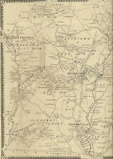 Long Valley Hackettstown Middle Valley NJ 1868 Maps with Homeowners Names