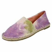 Ladies Spot On Flat Espadrille Shoe Stitched