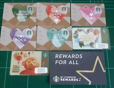 7 Cards Starbucks Thailand 2016 Valentine Chinese Money Heart Mail Registered
