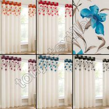 Rideaux œillet supérieur avec un motif Floral pour la maison