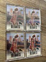 LEBRON JAMES 2003 UD UPPER DECK CITY HEIGHTS 3D RC CARD LOT OF 4 PSA ? MINT