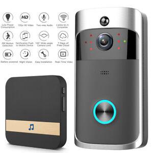 Wireless WiFi Video Doorbell Two-Way Talk Smart Door Bell Security Camera HD UK