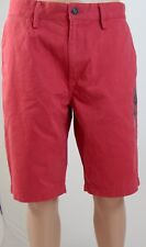 """Gap Mens Red Khaki Shorts Chinos """"Lived In"""" W 33  Inseam 11""""  L 12 1/2"""" 2017 NWT"""