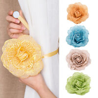 1Pcs Window Magnetic Flower Curtain Tieback Clip-on Rose Flower Tie Holder Decor