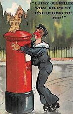 POSTCARD  COMIC   Post Box  Navy  Drunk .....