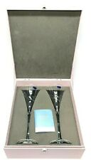 Marquis By Waterford Champagne Flutes Yours Truly Collection W/ Box Set Of 2