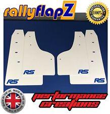 Ford Focus RS Mk3 mudflaps MUD FLAPS guardias y Acero Inoxidable Fijaciones-Blanco RSN