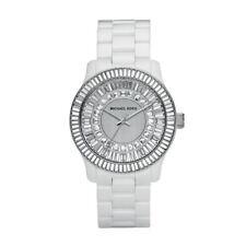 Michael Kors Analog Quartz White Ceramic Crystal Glitz Women's Watch MK5361