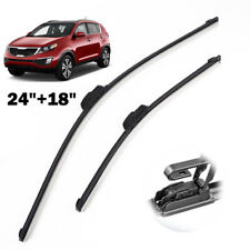 "24""18"" Front Window Windscreen Flat Wiper Blades Fit For Kia Sportage SL 10-15"