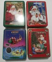 Vintage Collectible Nabisco Oreo Cookie Christmas Tins 4 Year Lot 93 95 97 98