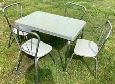 VTg Child's  Formica chrome Dining kitchen Table Chairs mid century retro modern