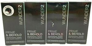 (4) Wunder2 Prime & Behold Professional Primer For Color Cosmetics 0.17 fl oz