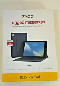 Rugged Messenger Wireless Keyboard and Detachable Case for 10.2 in iPad