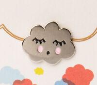 Orelia Silver Cute Cloud Clothing Pin Badge Brooch & Greeting Card & gift bag