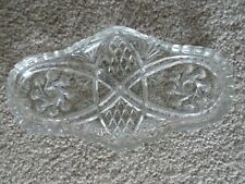 "Vintage Pressed Glass Butter Dish  8.25""    Free Shipping"