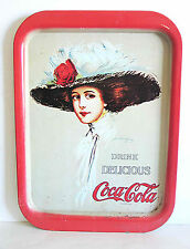 "Coca Cola Metal Advertising Tray 1904 Repro 1971 Hamilton King Lady 15"" FREE SH"