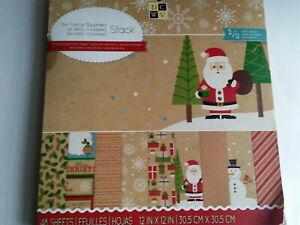 DCWV AND RECOLLECTION CHRISTMAS -  12 x 12 PAPER PAD-YOUR CHOICE OF DESIGN