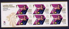 London 2012 Olympic gold medal winners Andy Murray Tennis Singles Sheetlet neuf sans charnière