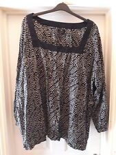 Black blouse plus size US5xl