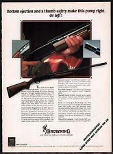 1983 BROWNING BPS Pump Shotgun PRINT AD Gun Advertising
