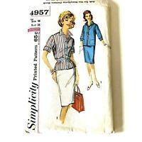Vintage Simplicity Sewing Pattern Womens Shirt Skirt Uncut Bust 36 1960s PA326