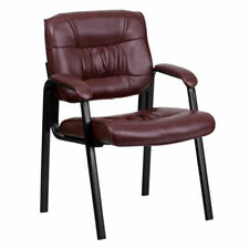 Flash Furniture Leather Reception Chair - Burgundy, Office Chair, Comfortable