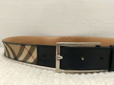 Burberry Classic Vintage Check Leather Belt W30 Eur80