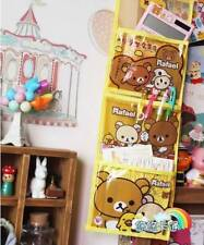 San-X Rilakkuma PVC Pen Pencil Storage Hanging Bag Makeup Bag Cosmetic 3 Pockets