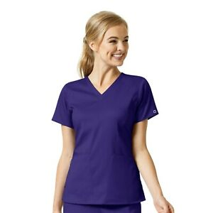 Wink WonderWink Pro Scrub Nurse Top 6319 4 Pocket V-Neck XXS to 5XL  ~NEW~