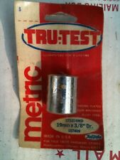 "TRU TEST HARDWARE USA MADE 3/8"" DRIVE 19MM 12-Point Chrome Shallow Socket USA"