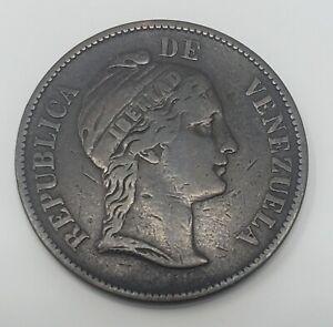 1863 Venezuela 1 Centavo Copper