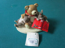 """Charming Tails By Fitz & Floyd """"Not A Creature Was Stirring"""" Figurine 4 X 3"""""""