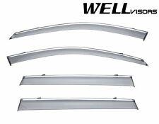 For 03-14 Volvo XC90 WellVisors Side Window Visors W/ Chrome Trim