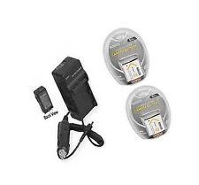 TWO 2 Batteries + Charger for Sony DSC-W650 DSCW650/B DSC-W580 DSC-W580B DSC-WX5