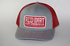 Red Dirt Patch Hat  Red Gray SnapBack Trucker