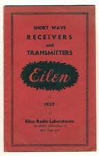 VINTAGE catalog 1937 SHORT WAVE RECEIVERS TRANSMITTERS Eilen Radio Lab. NYC