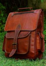 16 Inch Genuine Leather Retro Rucksack Backpack Bag , Picnic Bag, Travel Bag