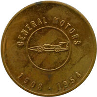 1908 1954 General Motors GM 50 Million Cars Commemorative Automotive Token