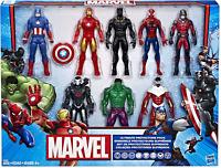 Marvel Avengers Action Figures - Iron Man, Hulk, Black Panther, Captain America,