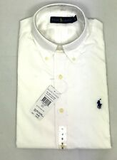 POLO RALPH LAUREN MENS GENUNE NEW WHITE NAVY BLACK POPLIN COTTON SHIRTS ALL SIZE