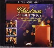 BILL GLORIA GAITHER Christmas Time Joy CD HOMECOMING FRIENDS GOSPEL SERIES